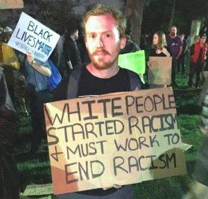 BLM White Sign Holder